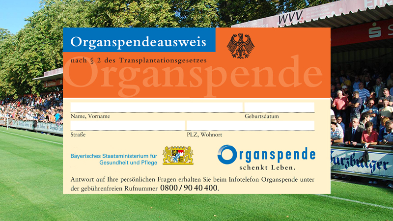 Feature Organspende Fankulisse